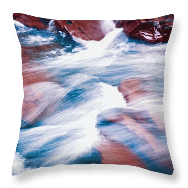 Peaceful Flow Throw Pillow by Kellice Swaggerty