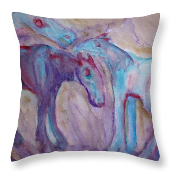 Peaceful Night  Throw Pillow by Hilde Widerberg