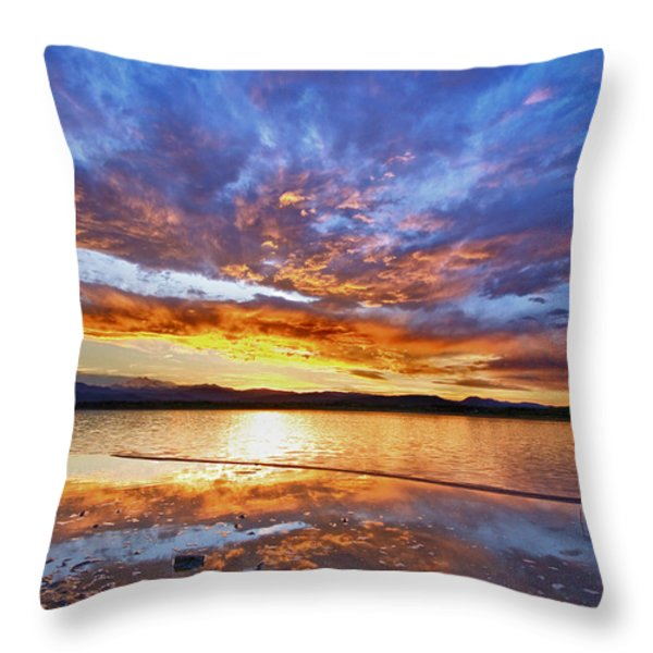 Peaceful Reflections Throw Pillow by James BO  Insogna