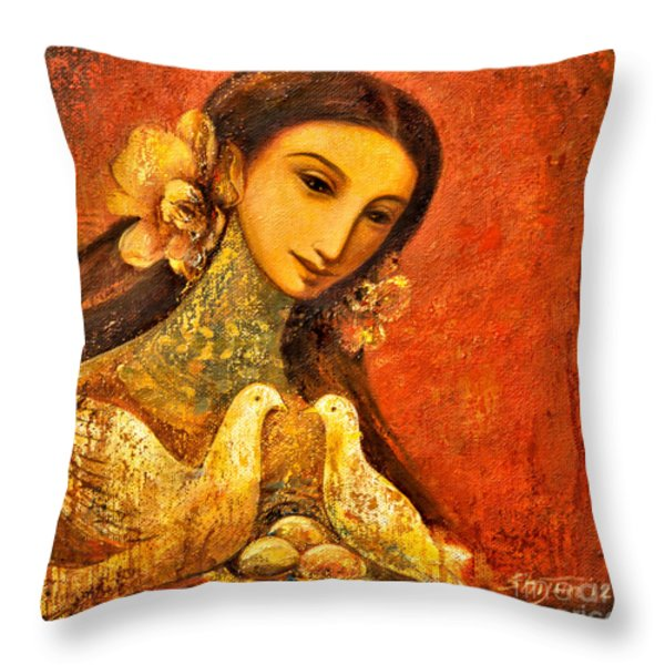 Peaceful Throw Pillow by Shijun Munns