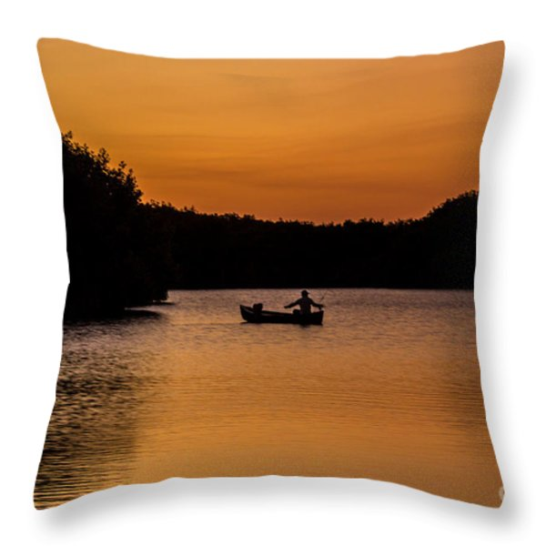 Peaceful Solitude Throw Pillow by Rene Triay Photography
