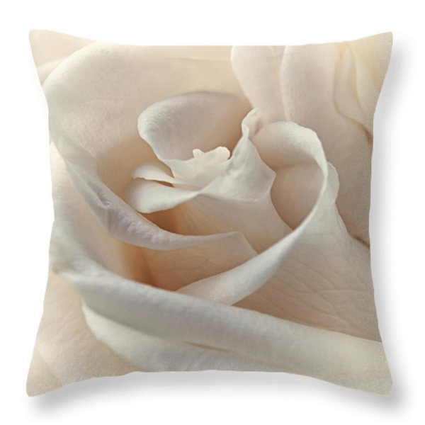 Peaches N Cream Throw Pillow by Darlene Kwiatkowski