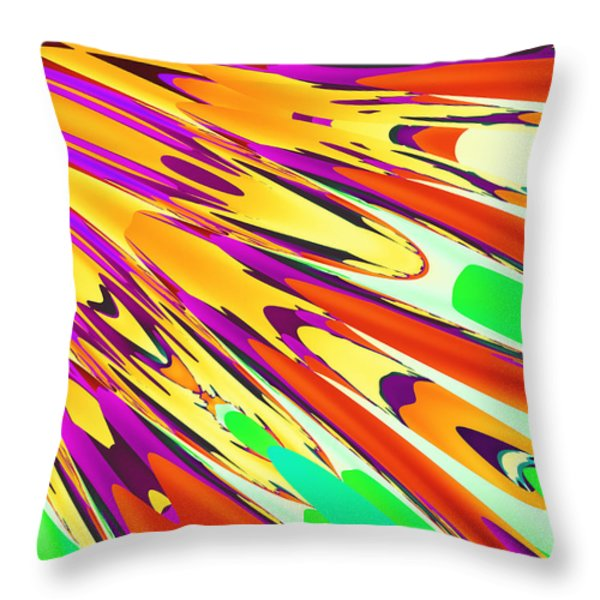 Peacock Feather  Throw Pillow by Ester  Rogers