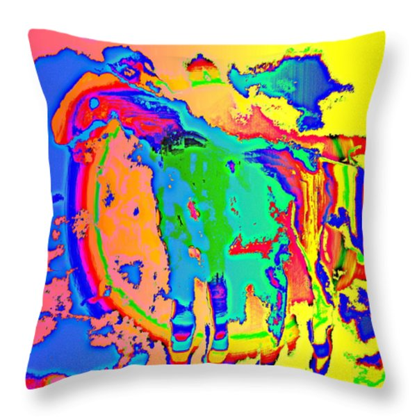 Peacock Throw Pillow by Hilde Widerberg