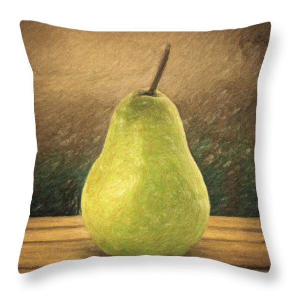 Pear Throw Pillow by Taylan Soyturk
