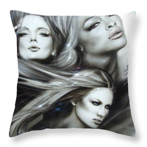 'Pearl Passions' Throw Pillow by Christian Chapman Art