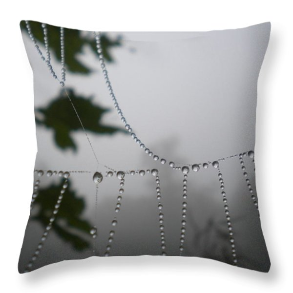 Pearls From Heaven Throw Pillow by Diannah Lynch