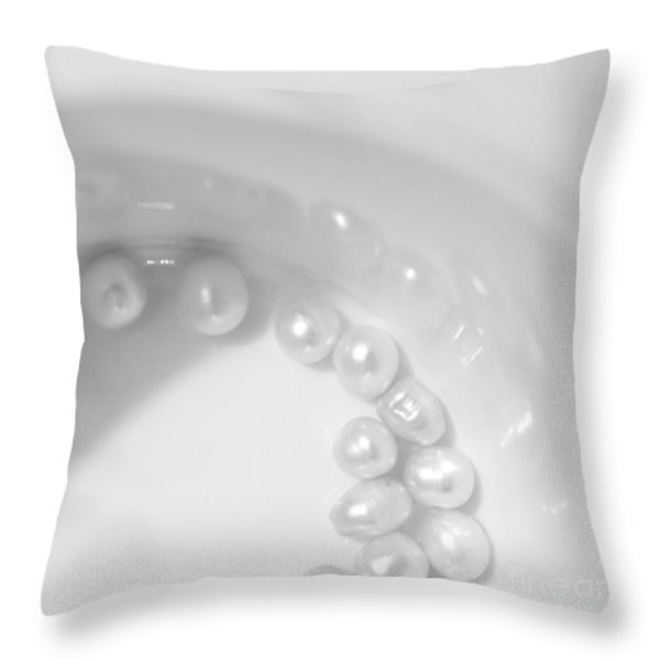 Pearls On A Cup Throw Pillow by Stelios Kleanthous