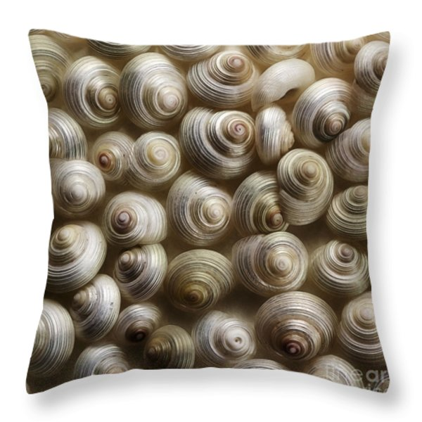 pearly Throw Pillow by Priska Wettstein