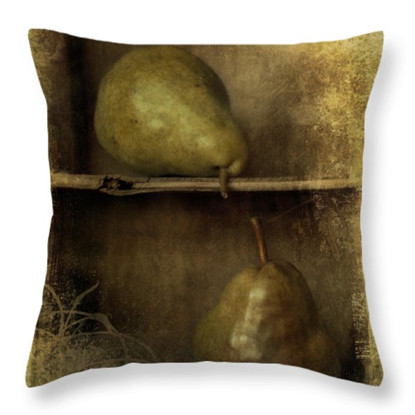 Pears Throw Pillow by Priska Wettstein
