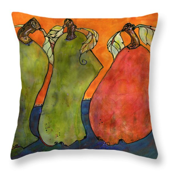 Pears Surrealism Art Throw Pillow by Blenda Studio