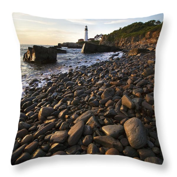 Pebble Beach Throw Pillow by Eric Gendron