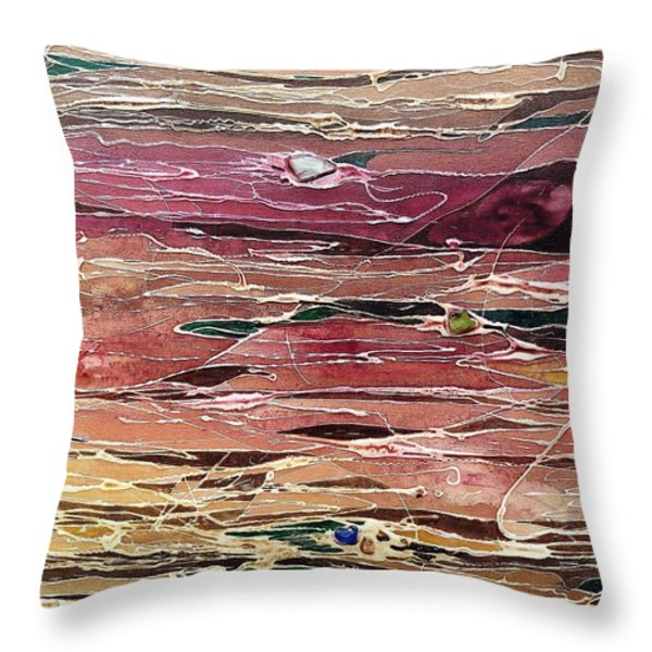 Pebble Beach Throw Pillow by Pat Purdy