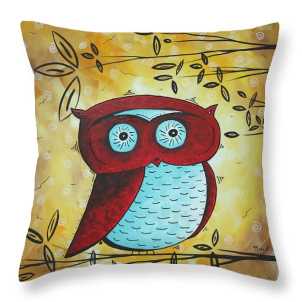 Peekaboo by MADART Throw Pillow by Megan Duncanson