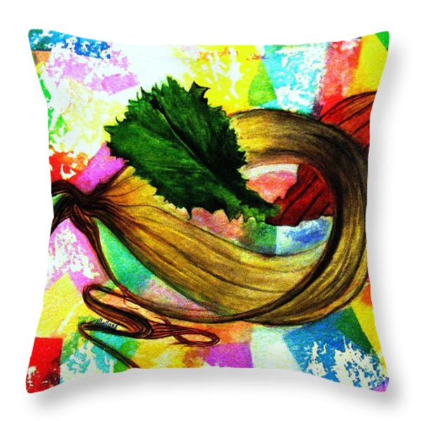 Peeling Back The Layers Throw Pillow by Hazel Holland