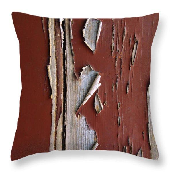 Peeling Paint Throw Pillow by Carlos Caetano