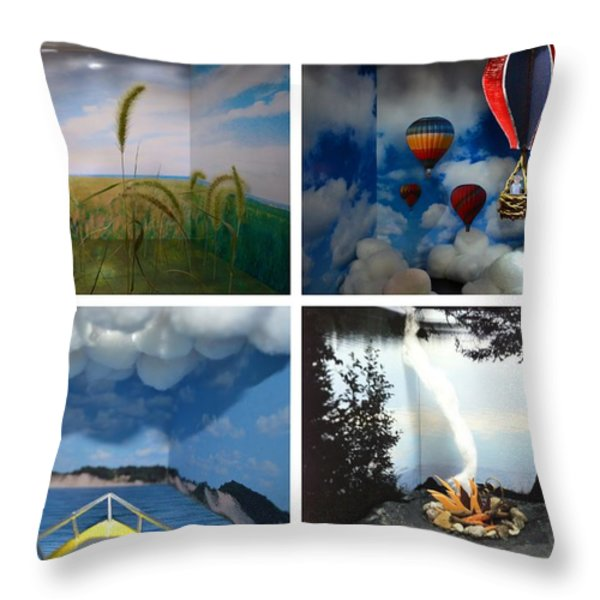 Peepholes Throw Pillow by Michelle Calkins