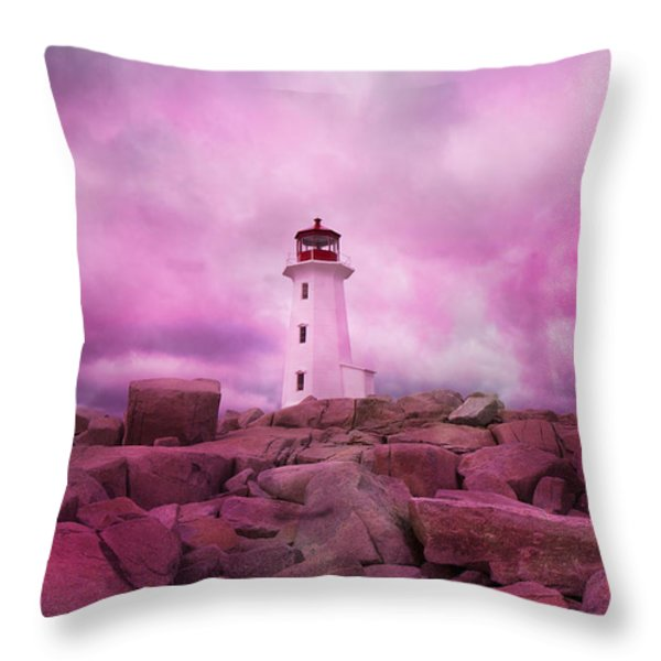 Peggy's Evening Throw Pillow by Betsy A  Cutler