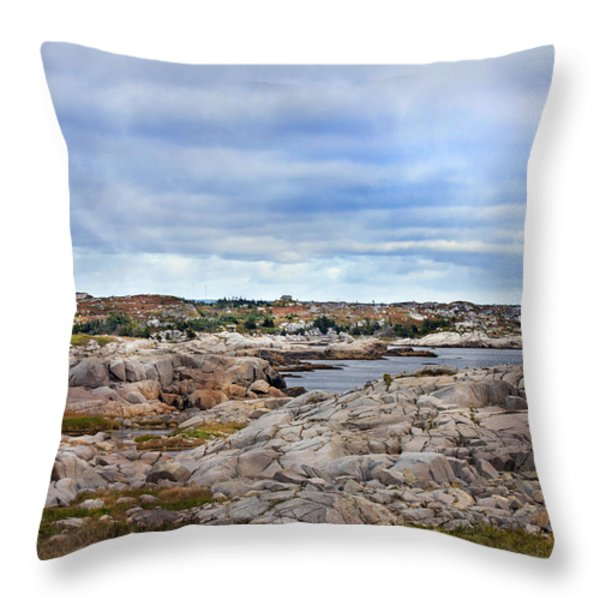 Peggy's World Throw Pillow by Betsy A  Cutler
