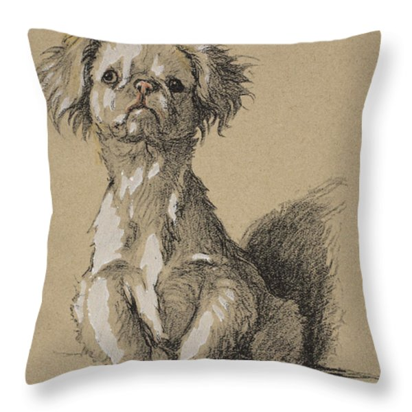 Peke, 1930, Illustrations Throw Pillow by Cecil Charles Windsor Aldin