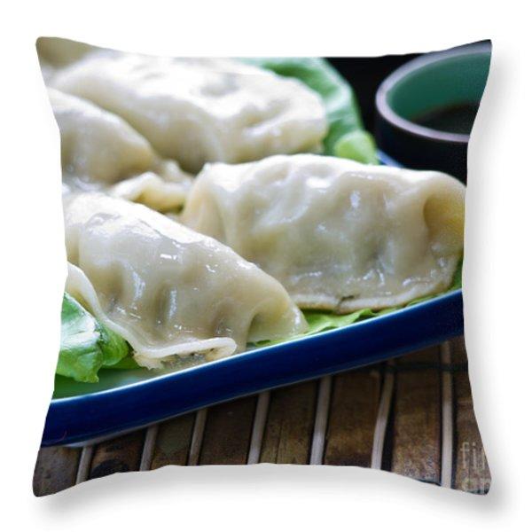 Peking Ravioli Throw Pillow by Edward Fielding
