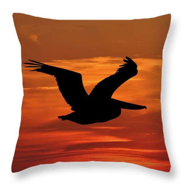 Pelican Profile Throw Pillow by Al Powell Photography USA