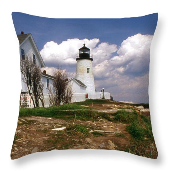 PEMAQUID COMPLEX Throw Pillow by Skip Willits