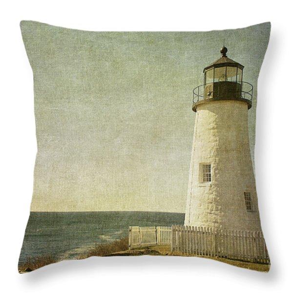Pemaquid Lighthouse 2 Throw Pillow by Cindi Ressler