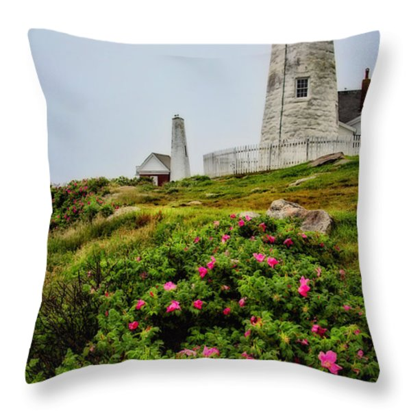 Pemaquid Point Throw Pillow by Karol  Livote