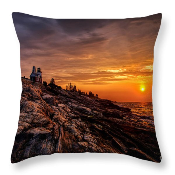 Pemaquid Sunrise  Throw Pillow by Jerry Fornarotto