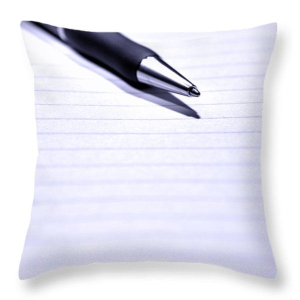 Pen On Paper Throw Pillow by Olivier Le Queinec