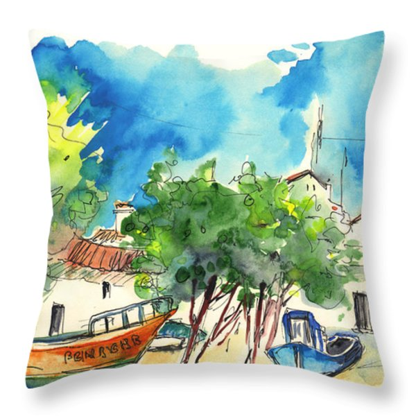 Peniche In Portugal 08 Throw Pillow by Miki De Goodaboom