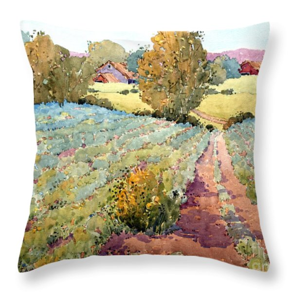 Pennsylvania Idyll Throw Pillow by Joyce Hicks