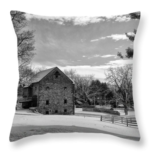 Pennsylvania Winter Scene Throw Pillow by Bill Cannon