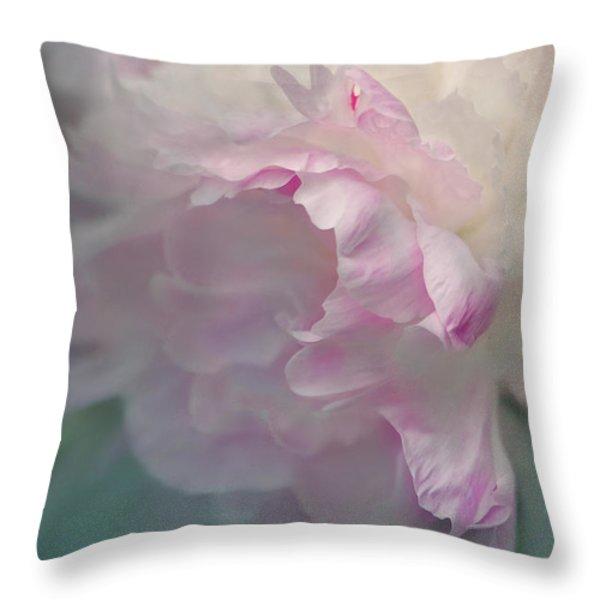 peony Throw Pillow by Jeff Burgess