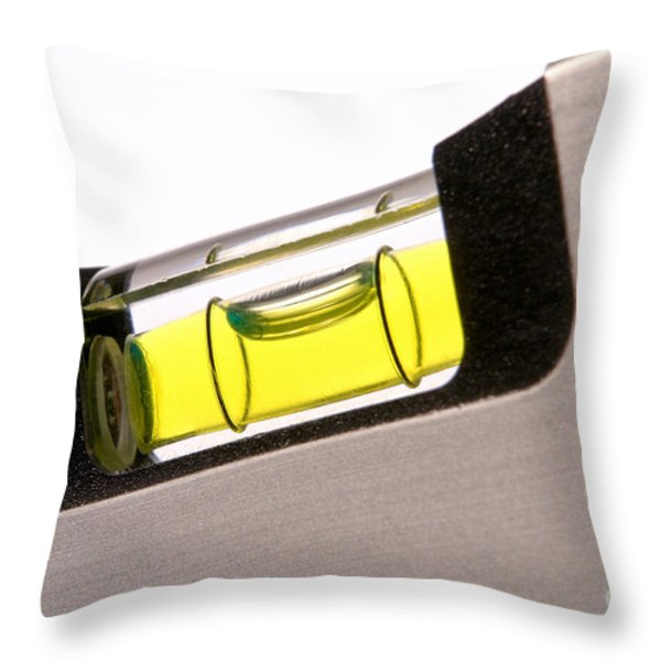 Perfect Level Throw Pillow by Olivier Le Queinec
