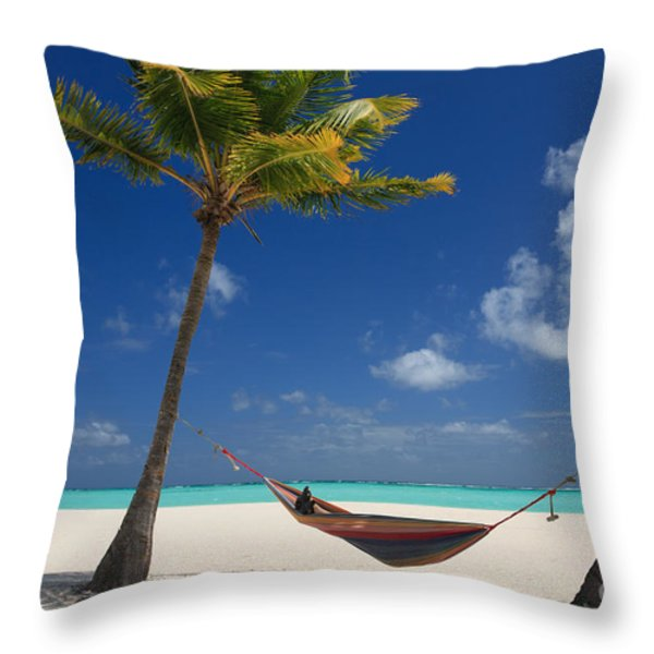 Perfect Tropical Beach Throw Pillow by Karen Lee Ensley