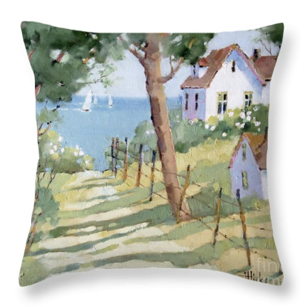 Perfectly Peaceful Nantucket Throw Pillow by Joyce Hicks