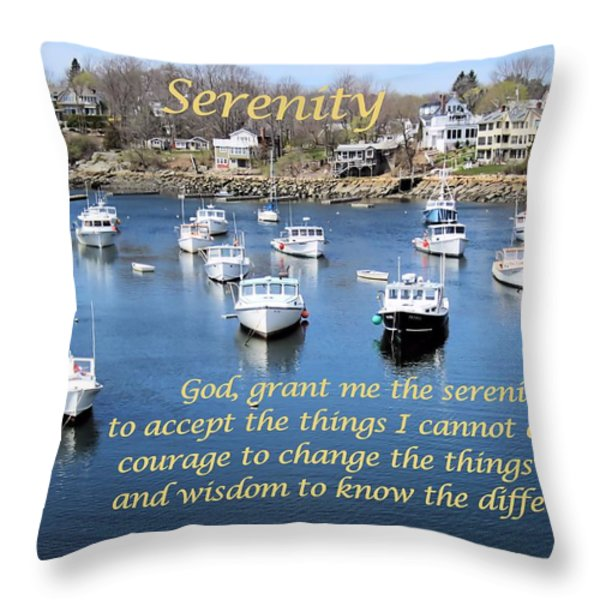Perkins Cove Serenity Throw Pillow by Patricia Urato