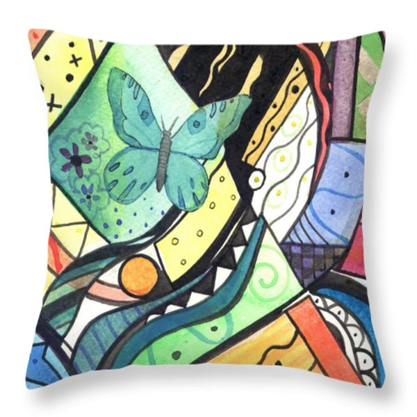 Persistence Of Form Throw Pillow by Helena Tiainen