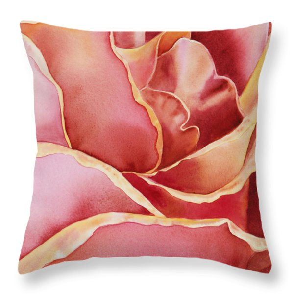 Petals Petals III Throw Pillow by Irina Sztukowski