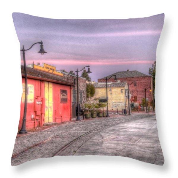 Petaluma Morning Throw Pillow by Bill Gallagher