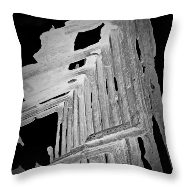 Peter Iredale Reverse Bw 6 Throw Pillow by Chalet Roome-Rigdon