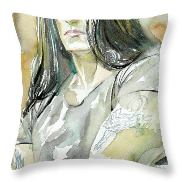 Peter Steele Portrait.2 Throw Pillow by Fabrizio Cassetta
