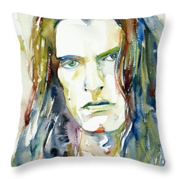 Peter Steele Portrait.4 Throw Pillow by Fabrizio Cassetta
