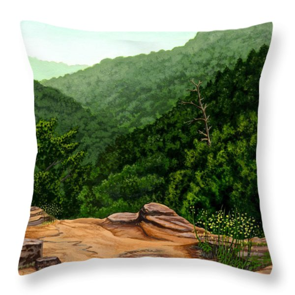 Petit Jean Mountains Throw Pillow by Dustin Miller