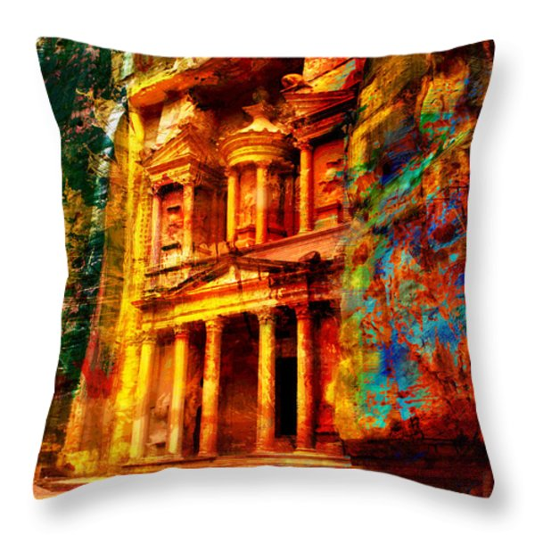 Petra Throw Pillow by Catf