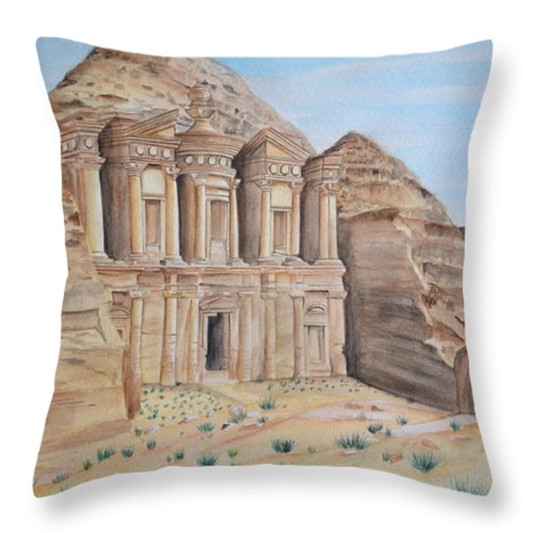 Petra Throw Pillow by Swati Singh