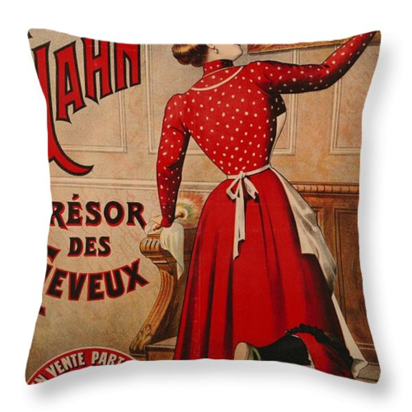 Petrole Hahn Throw Pillow by Boulanger Lautrec