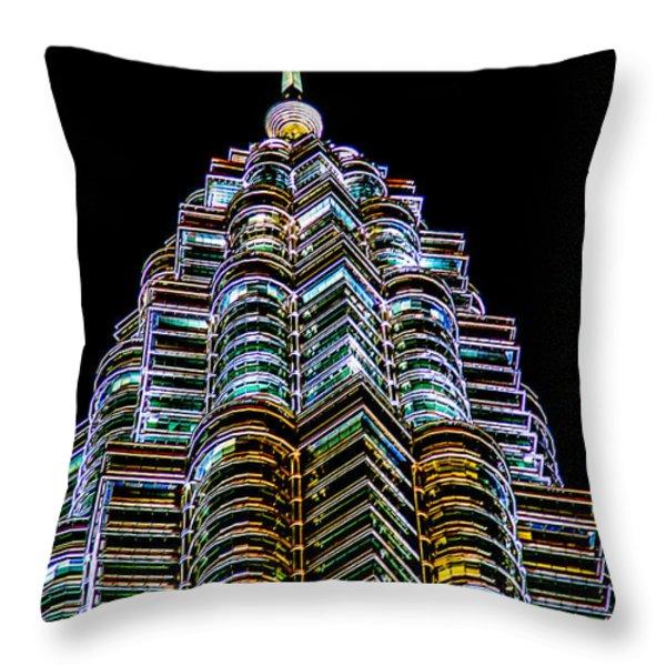 Petronas Tower Throw Pillow by Adrian Evans